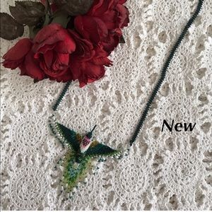 Handmade Hummingbird Necklace 1 Of A Kind NEW